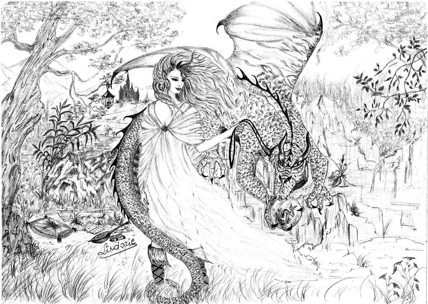 Faeries librerie participations libres lindori - Dessin dragon couleur ...